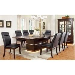 Furniture of America Braylin Extendable LED Dining Set