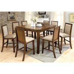Furniture of America Jutters 9 Piece Extendable Counter Dining Set