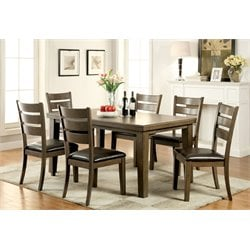 Furniture of America Centen 7 Piece Dining Set in Gray