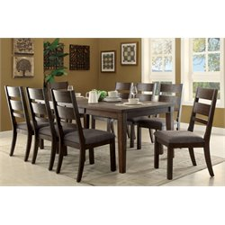 Furniture of America Emponez 9 Piece Extendable Dining Set in Espresso