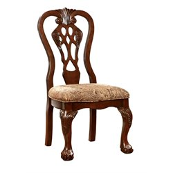 Furniture of America Wilson Dining Chair in Brown Cherry (Set of 2)