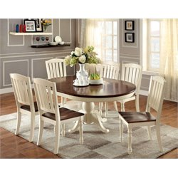 Furniture of America Gossling Extendable Pedestal Dining Set