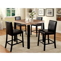 Furniture of America Kenneth Counter Height Pub Table in Black
