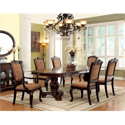 Furniture of America Ramsaran Extendable Pedestal Dining Set