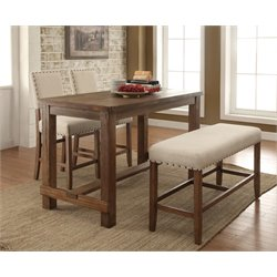 Furniture of America Whunter 4 Piece Counter Height Dining Set