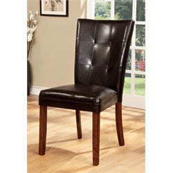 Furniture of America Traline Dining Chair in Natural Wood (Set of 2)