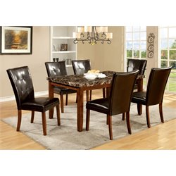 Furniture of America Traline Dining Set in Natural Wood