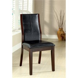 Furniture of America Egnew Dining Chair in Dark Oak (Set of 2)