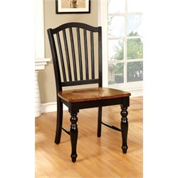 Furniture of America Sallie Dining Chair in Antique Oak (Set of 2)
