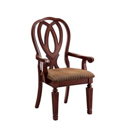 Furniture of America Grabel Dining Arm Chair in Cherry (Set of 2)