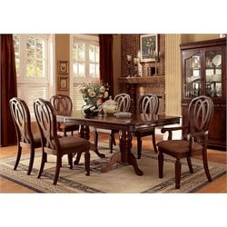 Furniture of America Grabel Extendable Pedestal Dining Set