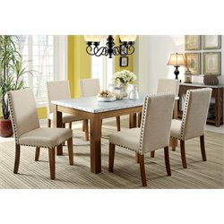 Furniture of America Nason Dining Set in Natural Tone