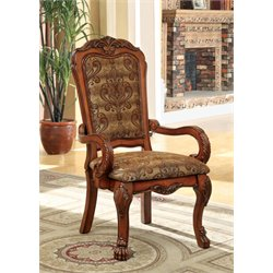 Furniture of America Douglas Dining Arm Chair in Oak (Set of 2)