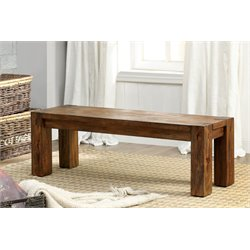 Furniture of America Rowlie Dining Bench in Dark Oak