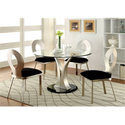 Furniture of America Lopez Oval Dining Table in Satin