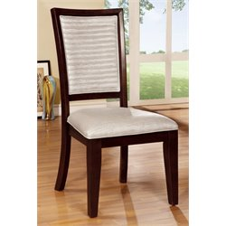 Furniture of America Steline Dining Chair in Natural Wood (Set of 2)