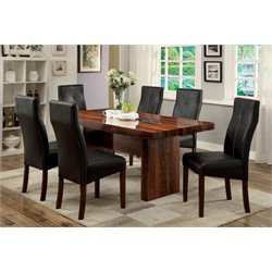 Furniture of America Rosa Dining Set in Brown Cherry