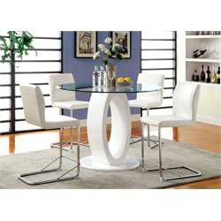 Hugo 5 Piece Round Counter Height Dining Set