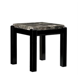 Explenich Square Marble Top End Table