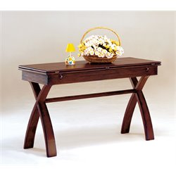 Furniture of America Frunex Extendable Console Table in Dark Cherry