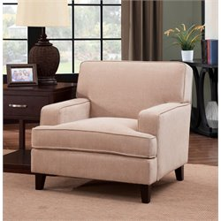 Furniture of America Elde Fabric Accent Chair in Ivory