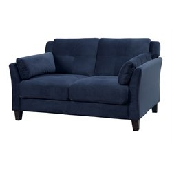 Trevon Tufted Fabric Loveseat