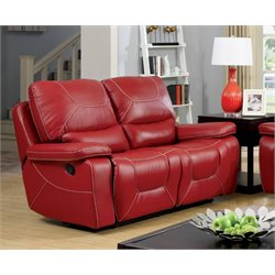 Huskan Leather Reclining Loveseat