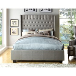 Elm Upholstered Platform Bed 1