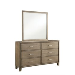 Realm 6 Drawer Dresser and Mirror Set