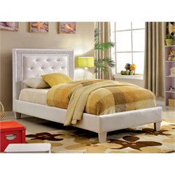 Hilary Tufted Faux Leather Platform Bed 1