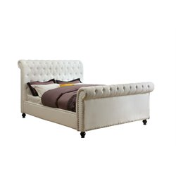 Selina Upholstered Sleigh Bed 1