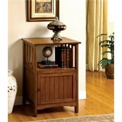 Furniture of America Bradford I Accent Cabinet in Antique Oak