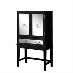 Furniture of America Setley Modern Wine Cabinet in Black