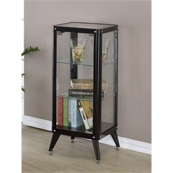 Elton Modern Metal Display Cabinet