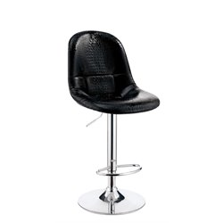 Umpton Adjustable Faux Leather Bar Stool