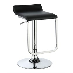 Sanders Adjustable Faux Leather Bar Stool