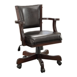 Matlock Adjustable Faux Leather Game Chair