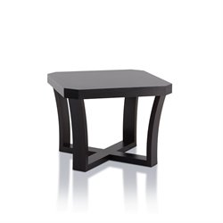 Furniture of America Bexa Square End Table in Cappuccino