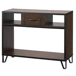 Furniture of America Dahlia Console Table in Vintage Walnut