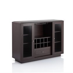 Furniture of America Bormie Modern Wine Rack Buffet in Espresso