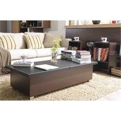 Furniture of America Donovan Storage Coffee Table in Black