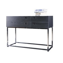 Furniture of America Flux Console Table in Black