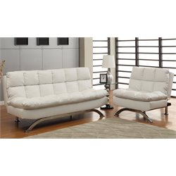 Furniture of America Ranikin 2 Piece Leatherette Futon Sofa Set