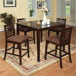Cowhan Dining Set in Espresso