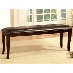 Furniture of America Arriane Leatherette Kitchen Bench in Espresso
