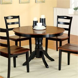 Furniture of America Hallis Round Dining Table in Antique Oak