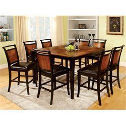 Furniture of America Balon 9 Piece Counter Height Dining Set
