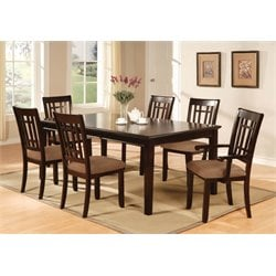 Furniture of America Holister 7 Piece Dining Set in Antique Oak