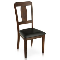 Furniture of America Bazan Dining Chair in Antique Dark Oak (Set of 2)