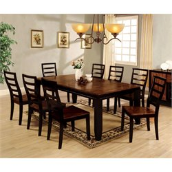 Lagasse Dining Set in Acacia and espresso